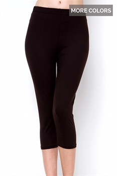 Picture of High Waist Solid Capris