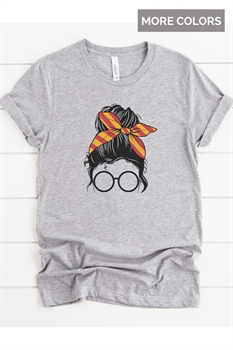 Picture of Wizard Messy Bun Graphic Tee
