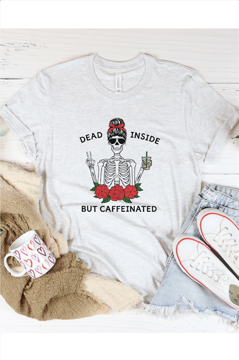 Picture of Dead Inside But Caffeinated Graphic Tee