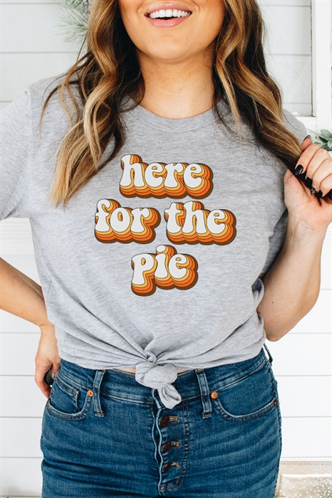 Picture of Here For The Pie Graphic Tee