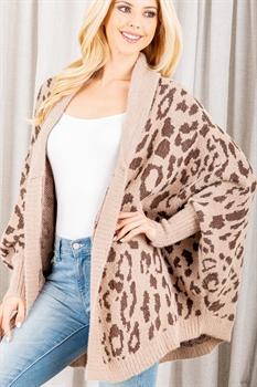 Picture of Leopard Open Cardigan