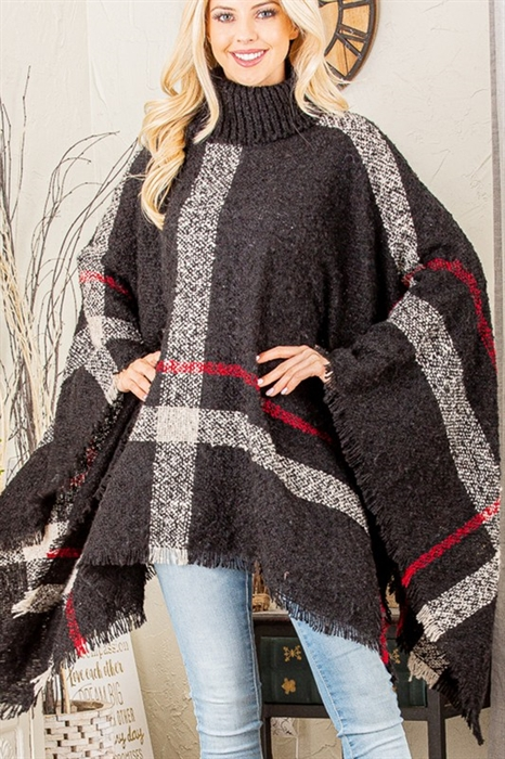 Picture of Plaid Poncho