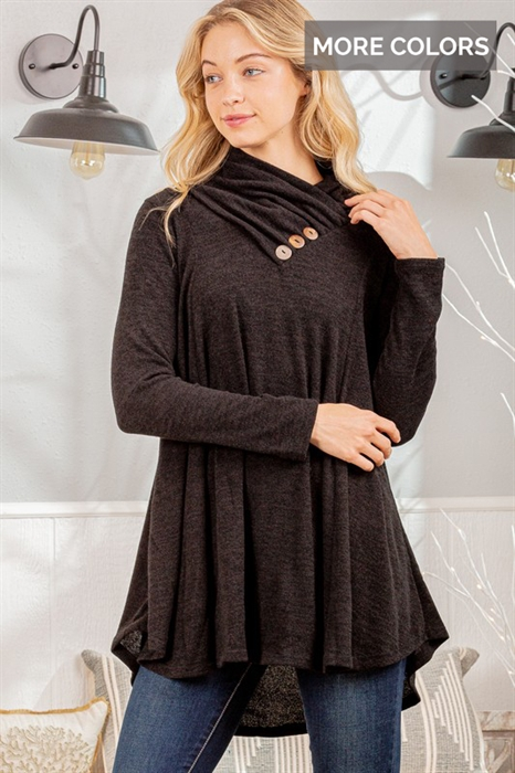 Picture of Three Button Cowl Neck
