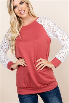 Picture of Kamala Lace Sleeve Top 🇺🇸